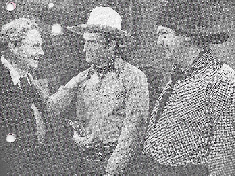 Gene Autry, Smiley Burnette, and William Farnum in Colorado Sunset (1939)