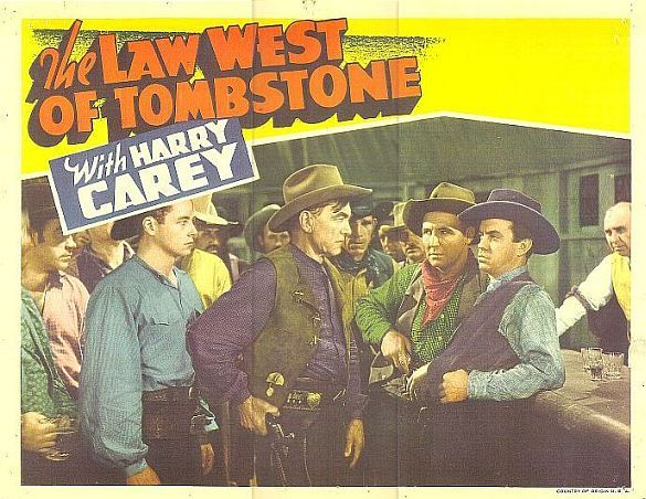 Paul Guilfoyle, Harry Carey, Tim Holt, Bob Kortman, and Monte Montague in The Law West of Tombstone (1938)