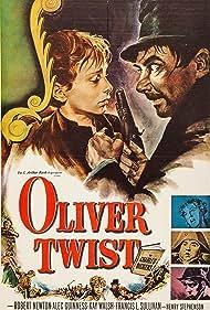 John Howard Davies, Robert Newton, Francis L. Sullivan, and Kay Walsh in Oliver Twist (1948)