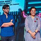 Raj Tarun and Sanjana Reddy at an event for Raju Gadu (2018)