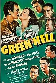 Joan Bennett, Douglas Fairbanks Jr., Vincent Price, George Sanders, Alan Hale, George Bancroft, and John Howard in Green Hell (1940)