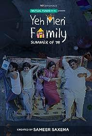 Mona Singh, Akarsh Khurana, Vishesh Bansal, Ahan Nirban, and Ruhi Khan in Yeh Meri Family (2018)