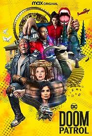 Brendan Fraser, Matt Bomer, Michelle Gomez, April Bowlby, Matthew Zuk, Diane Guerrero, Joivan Wade, and Riley Shanahan in Doom Patrol (2019)
