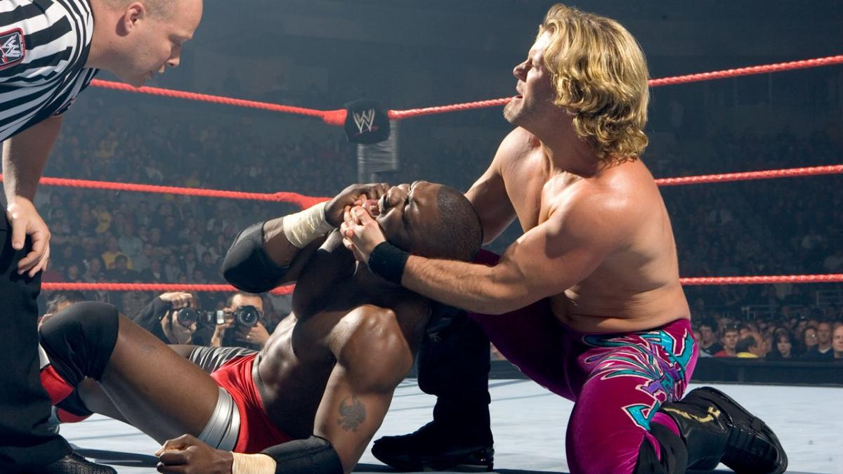 Image result for wwe Backlash 2005 Shelton Benjamin vs Chris Jericho