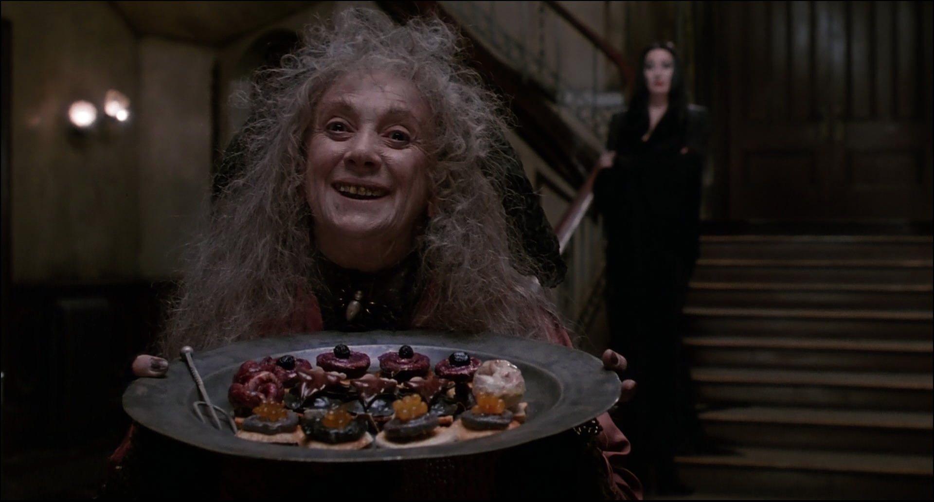 Anjelica Huston and Judith Malina in The Addams Family (1991)