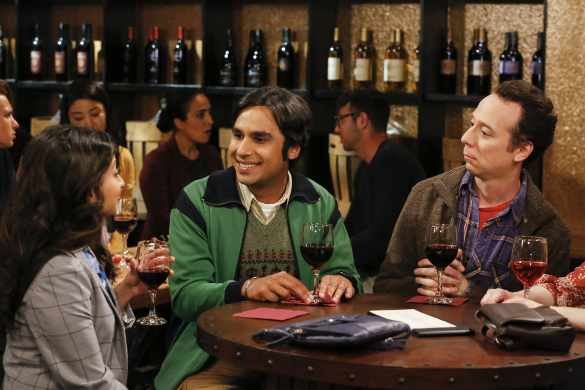 Kevin Sussman, Kunal Nayyar, and Swati Kapila in The Big Bang Theory (2007)