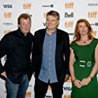 Jason Flemyng, Peter Cattaneo, and Sharon Horgan at an event for Military Wives (2019)