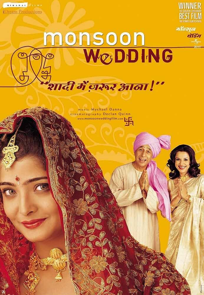 Monsoon Wedding (2001) Hindi 720p HEVC BluRay x265 ESubs [500MB] Full Bollywood Movie