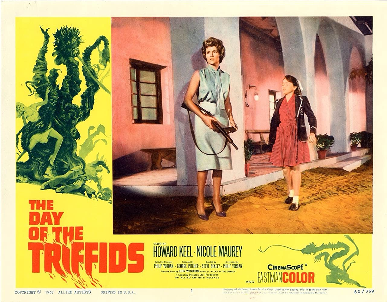Janina Faye and Nicole Maurey in The Day of the Triffids (1963)