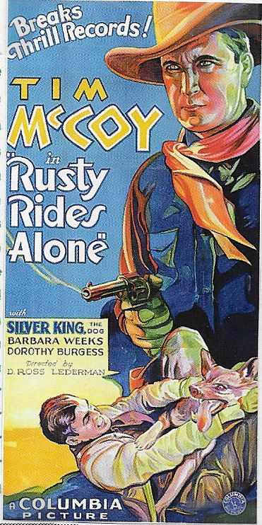 Tim McCoy and Silver King the Dog in Rusty Rides Alone (1933)