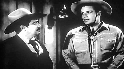 Buster Crabbe and Jack O'Shea in Overland Riders (1946)