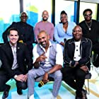 Wesley Snipes, Mike Epps, Craig Robinson, Keegan-Michael Key, Dave Karger, Tituss Burgess, and Da'Vine Joy Randolph at an event for Dolemite Is My Name (2019)