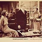 Myrna Loy, Alice Brady, and Frank Morgan in When Ladies Meet (1933)