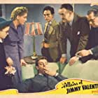 Roman Bohnen, Spencer Charters, Gloria Dickson, Dennis O'Keefe, Patsy Parsons, and George E. Stone in The Affairs of Jimmy Valentine (1942)