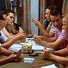 Matt Dillon, Bronson Pinchot, and Fisher Stevens in The Flamingo Kid (1984)
