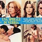 Carole Chauvet, Duilio Del Prete, Claude Jade, and Marc Porel in Una spirale di nebbia (1977)