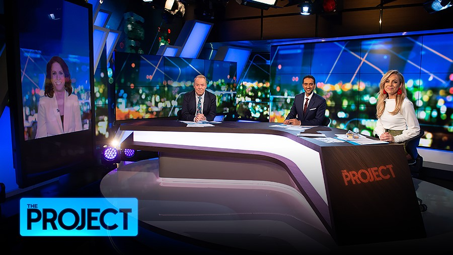 Peter Helliar, Rachel Corbett, Carrie Bickmore, and Waleed Aly in Episode dated 29 July 2020 (2020)