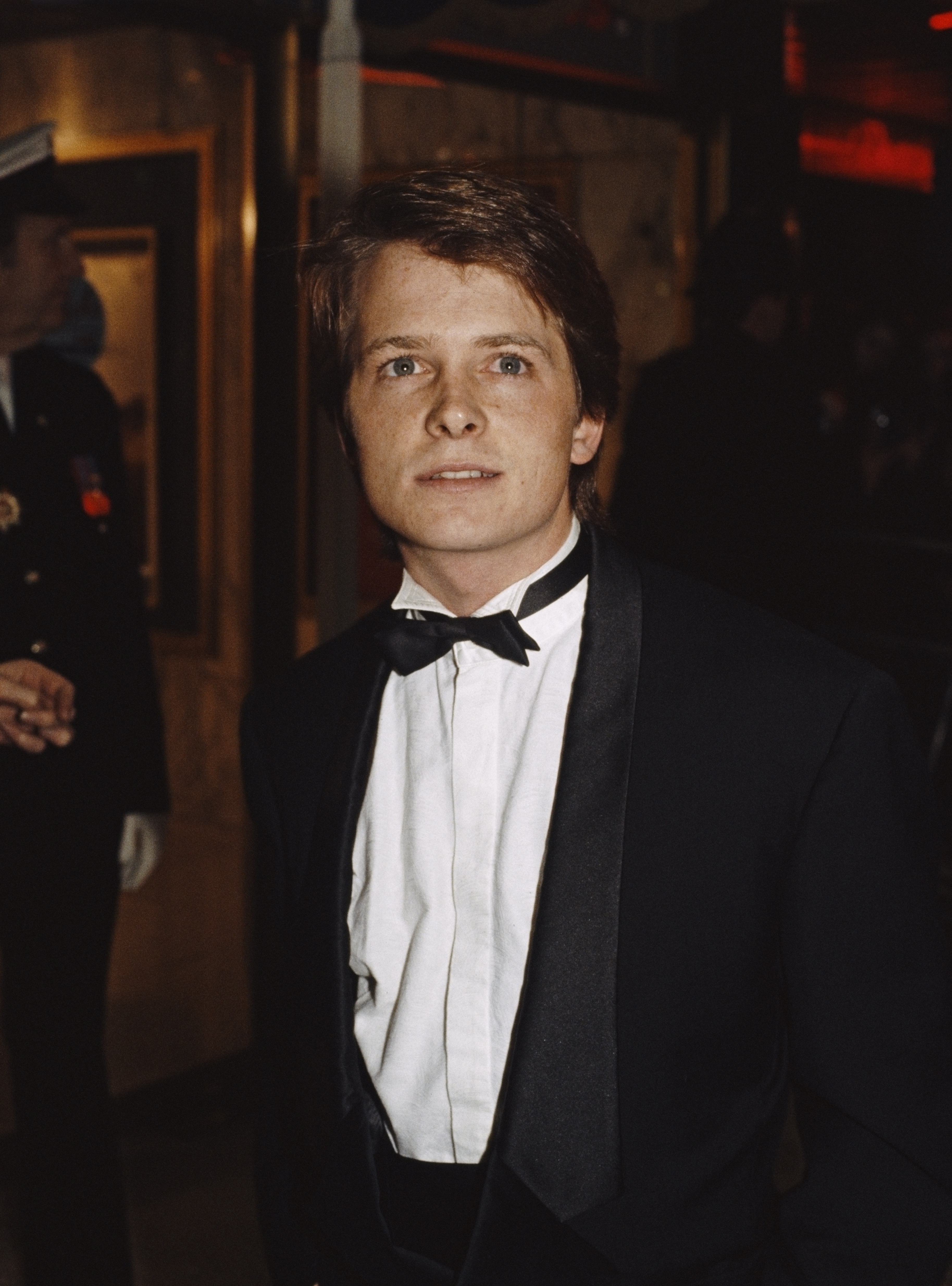 Michael J. Fox at an event for Back to the Future (1985)
