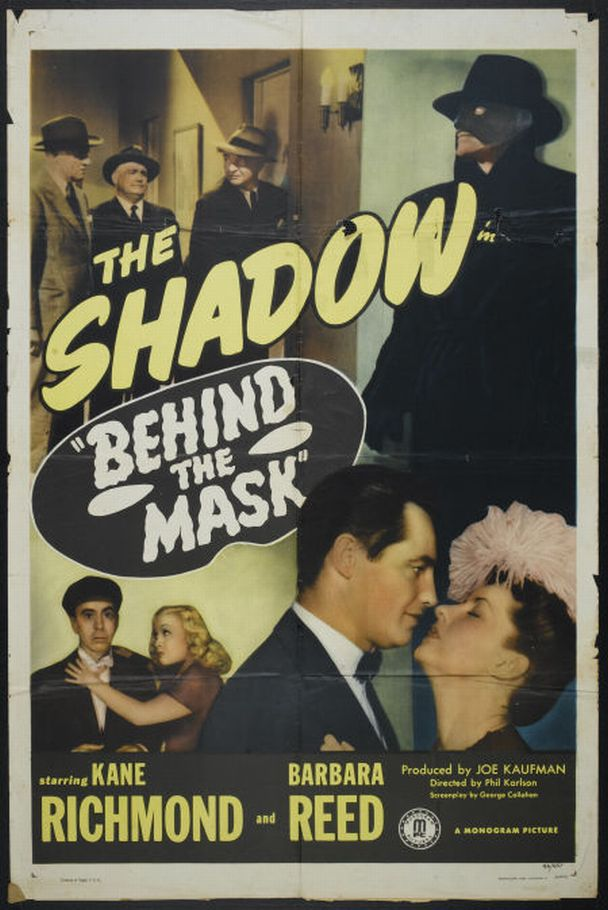 Joseph Crehan, George Chandler, Dorothea Kent, Barbara Read, and Kane Richmond in Behind the Mask (1946)