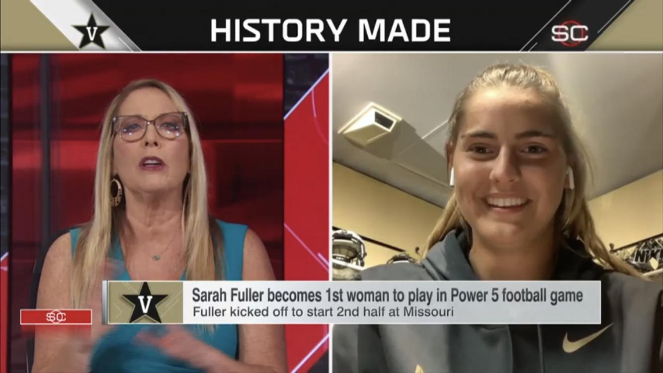 Sarah Fuller in SportsCenter (1979)