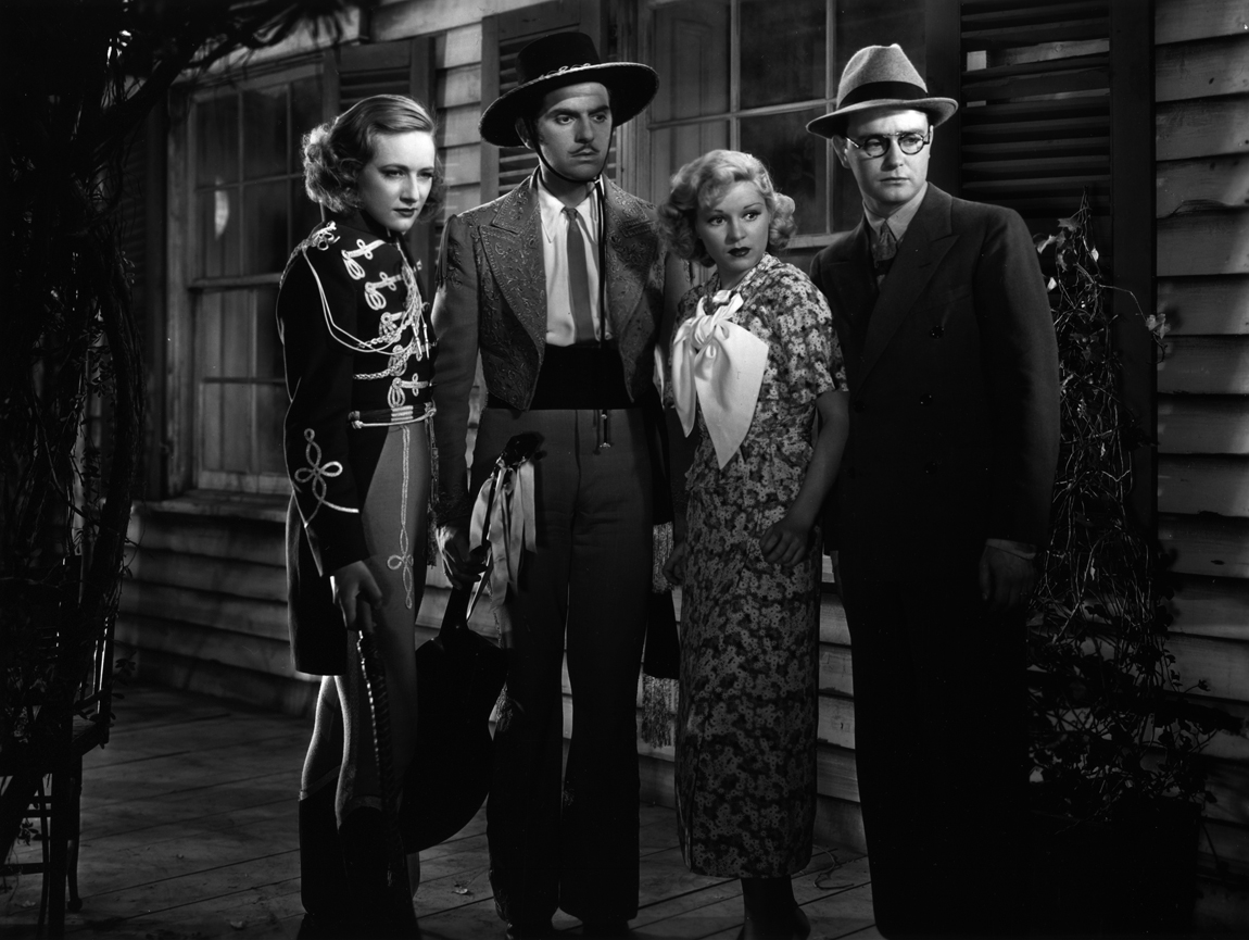 Lew Ayres, Tala Birell, Walter Woolf King, and Claire Trevor in Spring Tonic (1935)