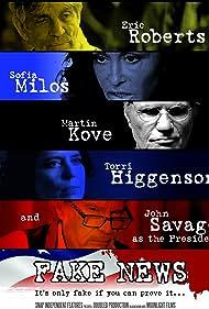 Eric Roberts, John Savage, Martin Kove, Torri Higginson, and Sofia Milos in Fake News (2017)