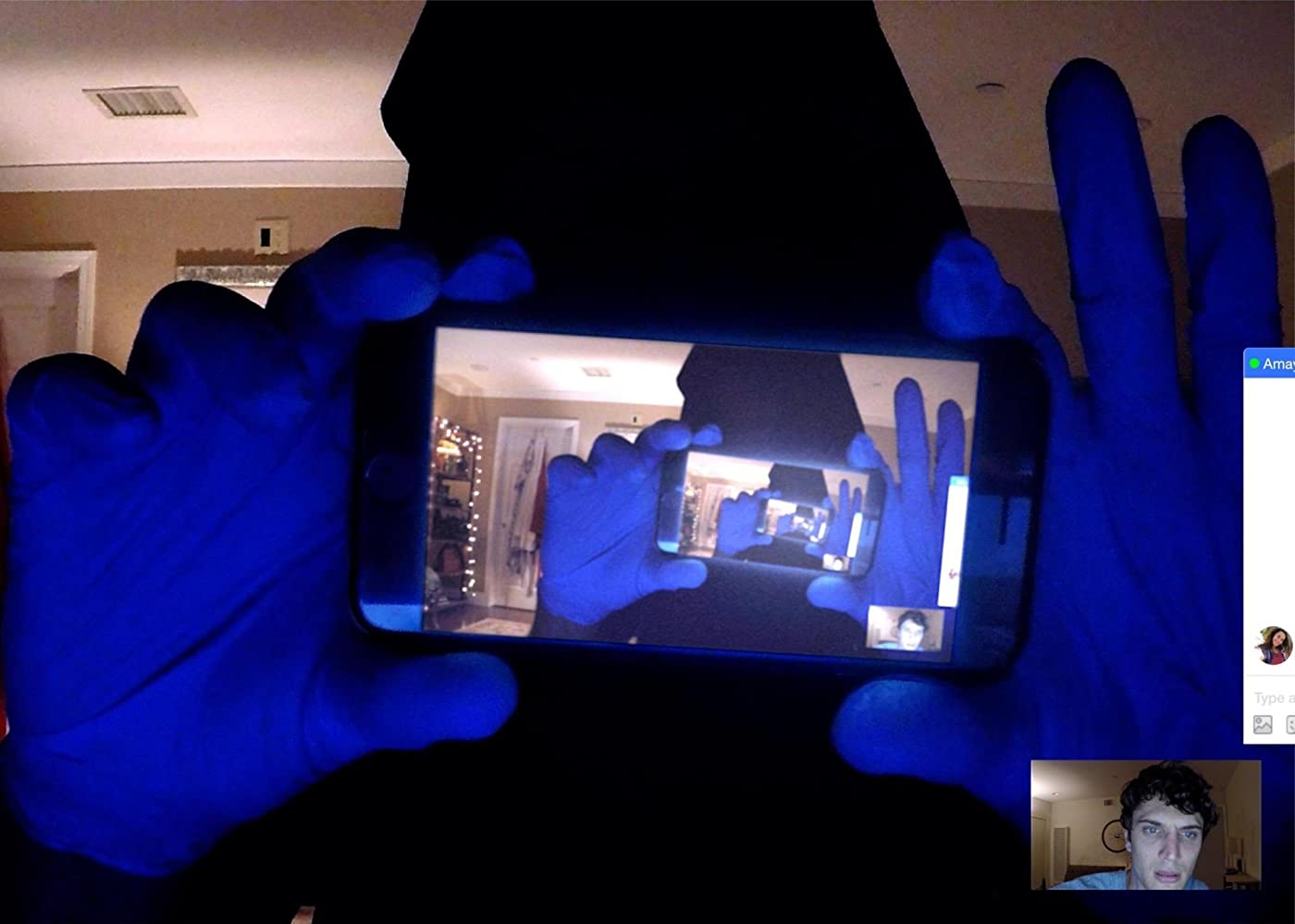 Douglas Tait and Colin Woodell in Unfriended: Dark Web (2018)