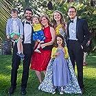 Lowell A. Meyer, Celine Held, Kara Durrett, Logan George, Caroline Falk, Brooks Falk, and Sally Falk at an event for Caroline (2018)