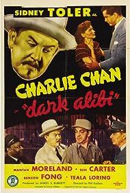 Benson Fong, Teala Loring, George Holmes, Mantan Moreland, Sidney Toler, and Anthony Warde in Dark Alibi (1946)