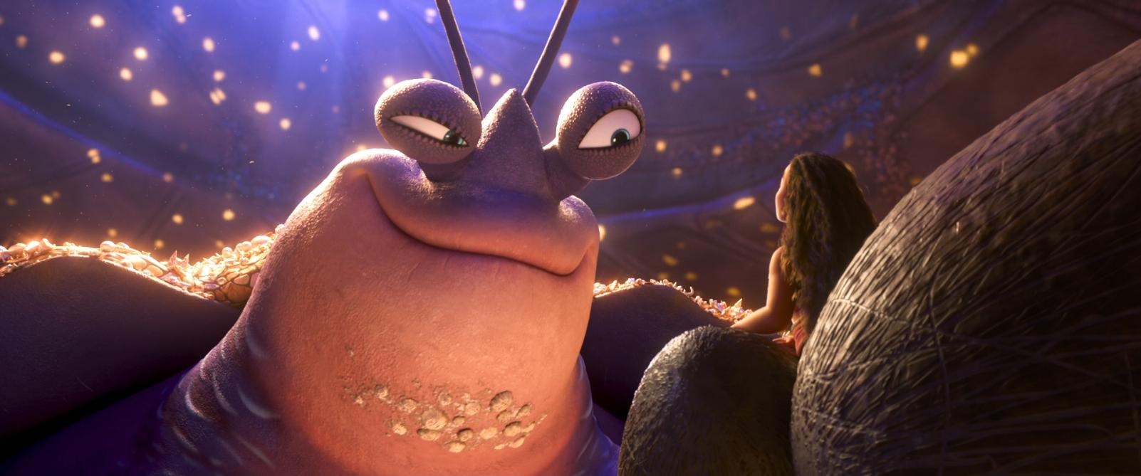 Jemaine Clement and Auli'i Cravalho in Moana (2016)