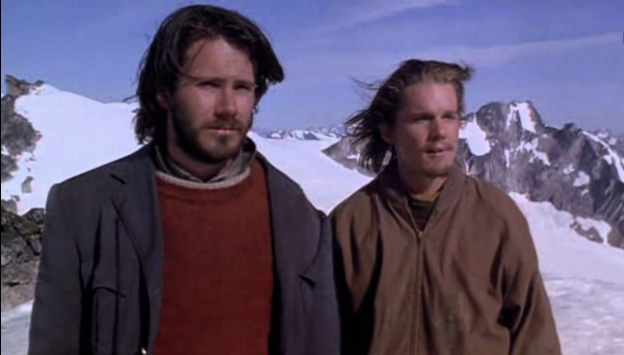Ethan Hawke and Josh Hamilton in Alive (1993)