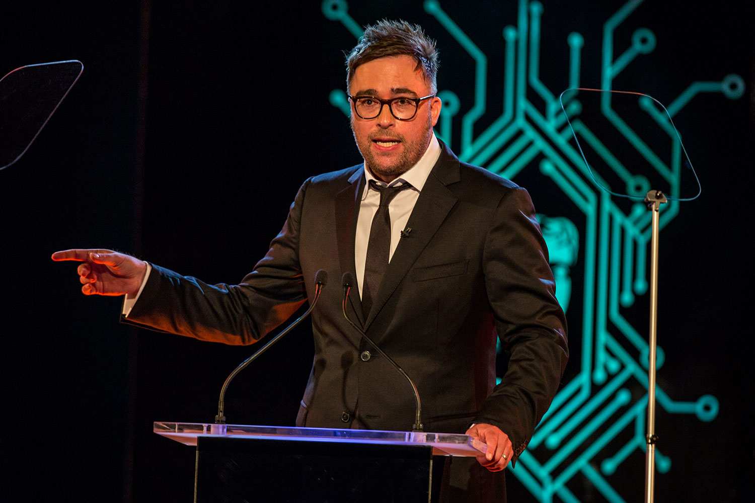 Danny Wallace hosts the 2017 BAFTA Games Awards in London.