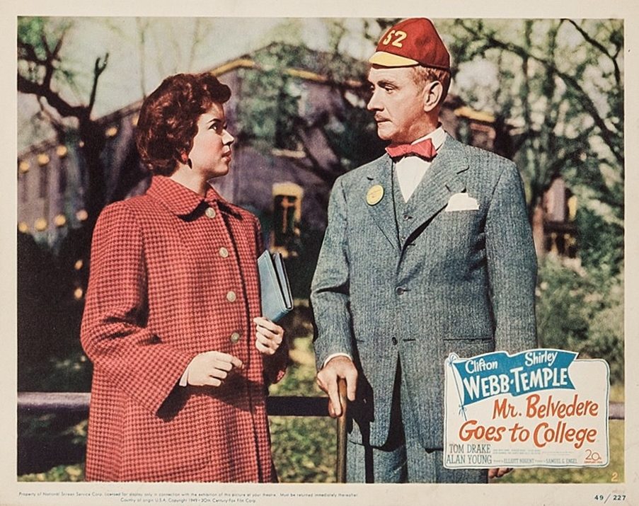 Shirley Temple and Clifton Webb in Mr. Belvedere Goes to College (1949)