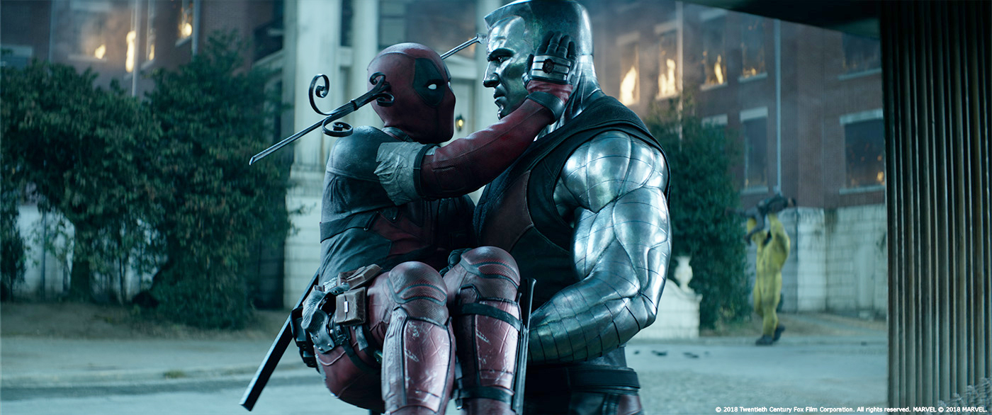 Ryan Reynolds and Stefan Kapicic in Deadpool 2 (2018)