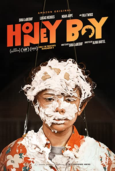 Poster of Honey Boy 2019 Full English Free Download Watch Online In HD Movie Download 720p HDRip