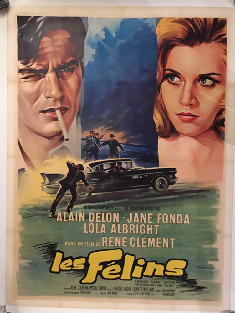 Jane Fonda and Alain Delon in Les félins (1964)