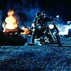 Arnold Schwarzenegger, Edward Furlong, and Robert Patrick in T2 3-D: Battle Across Time (1996)