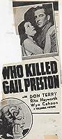 Who Killed Gail Preston? (1938) Poster