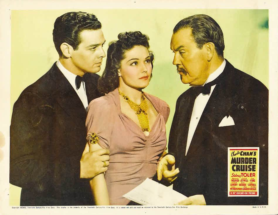 Robert Lowery, Sidney Toler, and Marjorie Weaver in Charlie Chan's Murder Cruise (1940)