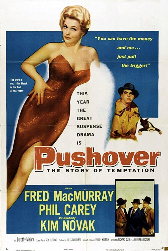 Kim Novak and Fred MacMurray in Pushover (1954)