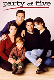 Neve Campbell, Lacey Chabert, Matthew Fox, and Scott Wolf in Party of Five (1994)