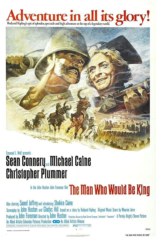 Sean Connery and Michael Caine in The Man Who Would Be King (1975)