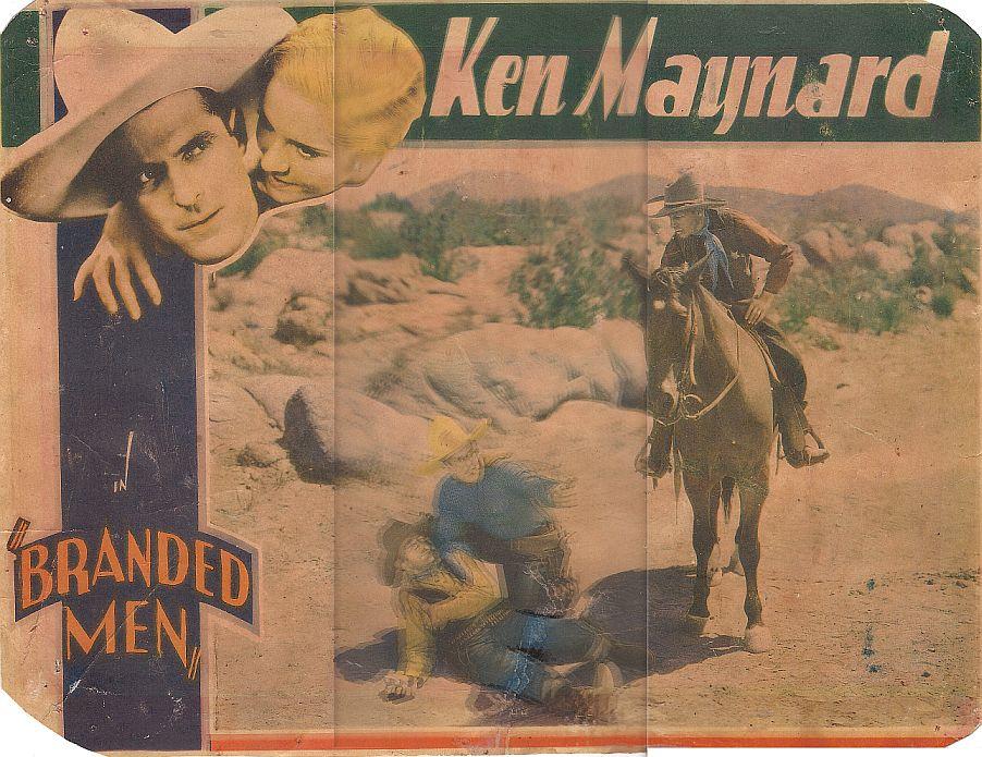 Irving Bacon, June Clyde, Ken Maynard, and Tarzan in Branded Men (1931)