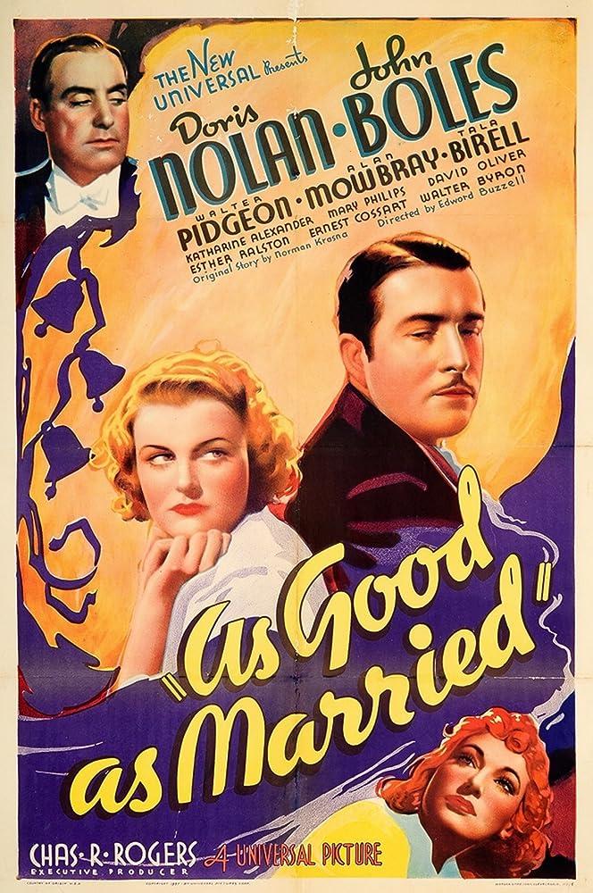 Tala Birell, John Boles, Doris Nolan, and Alan Mowbray in As Good as Married (1937)