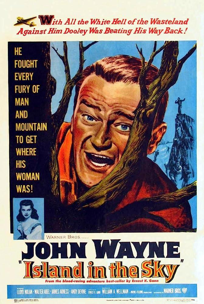 John Wayne and Dawn Bender in Island in the Sky (1953)