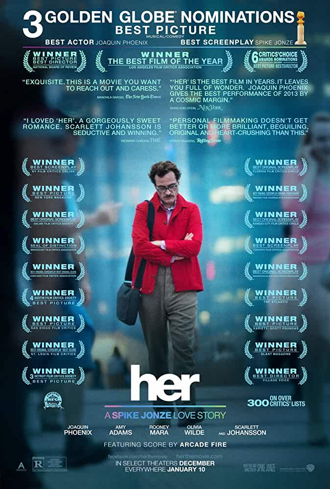Her (2013) 720p BluRay Dual Audio Hindi+English Esub – Oscar Winner