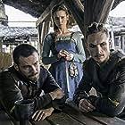 Peri Baumeister, Mark Rowley, and Arnas Fedaravicius in The Last Kingdom (2015)
