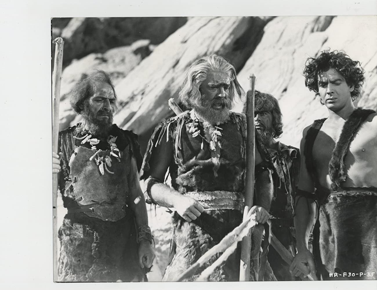 Lon Chaney Jr., Victor Mature, Edgar Edwards, and Harry Wilson in One Million B.C. (1940)