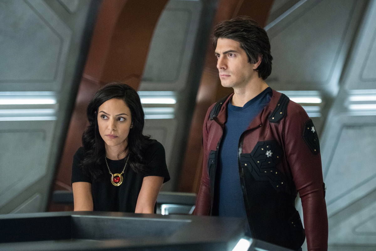 Brandon Routh and Tala Ashe in Legends of Tomorrow (2016)