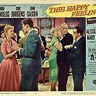 Debbie Reynolds, Joe Flynn, Curd Jürgens, and John Saxon in This Happy Feeling (1958)